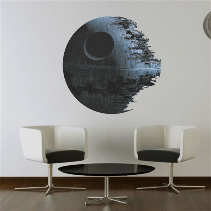 HTB1LFBcOFXXXXXuXVXXq6xXFXXXt - Death Star Wars Poster Wall Stickers Movie Wall Decals Art for Boys Nursery Kids Room Home Decoration WallPaper Kids Wall Paper
