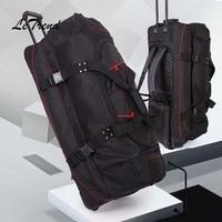 Letrend большая емкость 36 дюймов дорожная сумка прокатки Чемодан Бизнес Сумка Тележка багажник многофункциональный чемодан на колесах