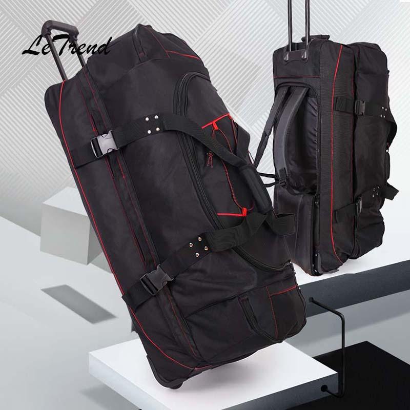 Letrend Большая вместительная 36 дюймов Дорожная сумка на колесиках, деловая сумка на плечо, сумка на колесиках, Многофункциональный чемодан на колесиках