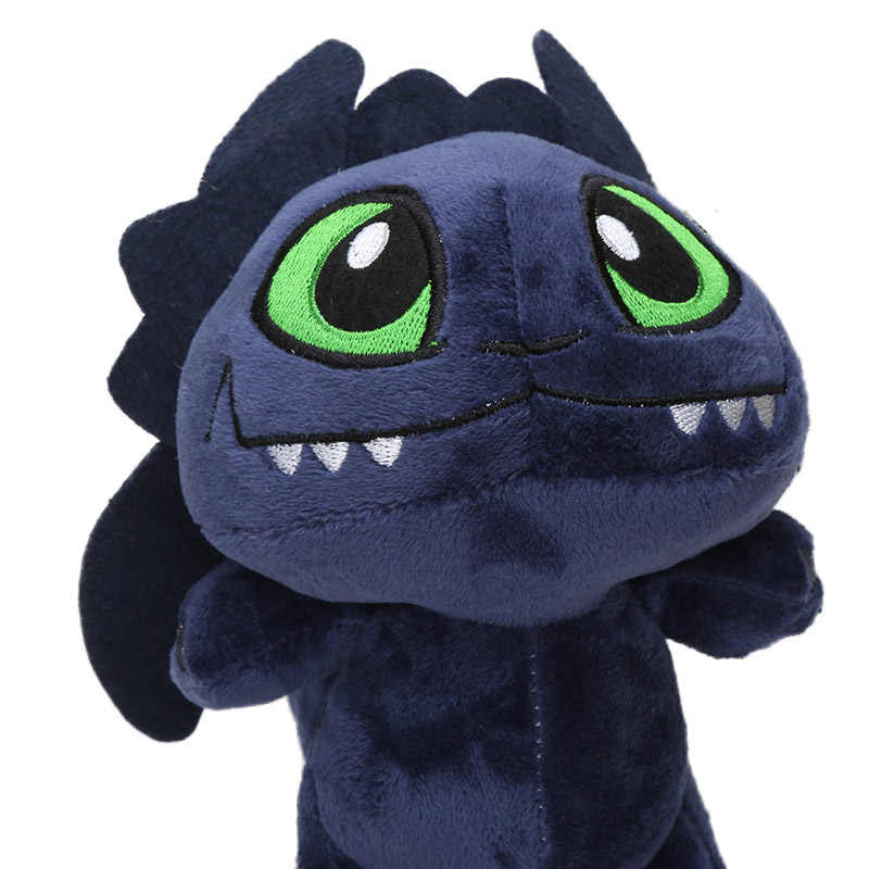 13-22cm como treinar seu brinquedo de pelúcia dragão branco desdentado noite fúria firedragon stormfly hookfang pelúcia animal brinquedos dol