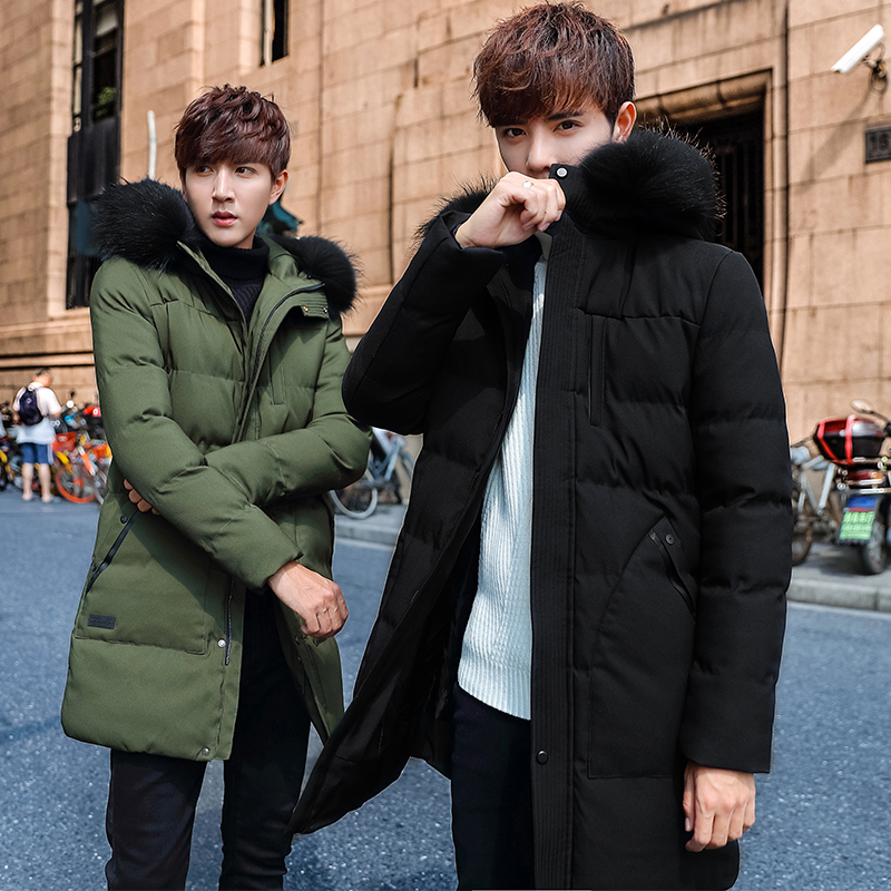 2017 New Fashion Winter Coat Men Warmin the long season cultivation winter cotton padded jacket Korean coat tide winter self cultivation in the long paragraph cotton 2017 new men s jacket men s cotton jacket handsome trend