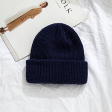 цены на 2018 Winter Beanies Hat Women Men Knitted Hats For Girls Wool Hip-Hop Caps Men Casual Unisex Solid Skullies Warm Hat Gorrses  в интернет-магазинах