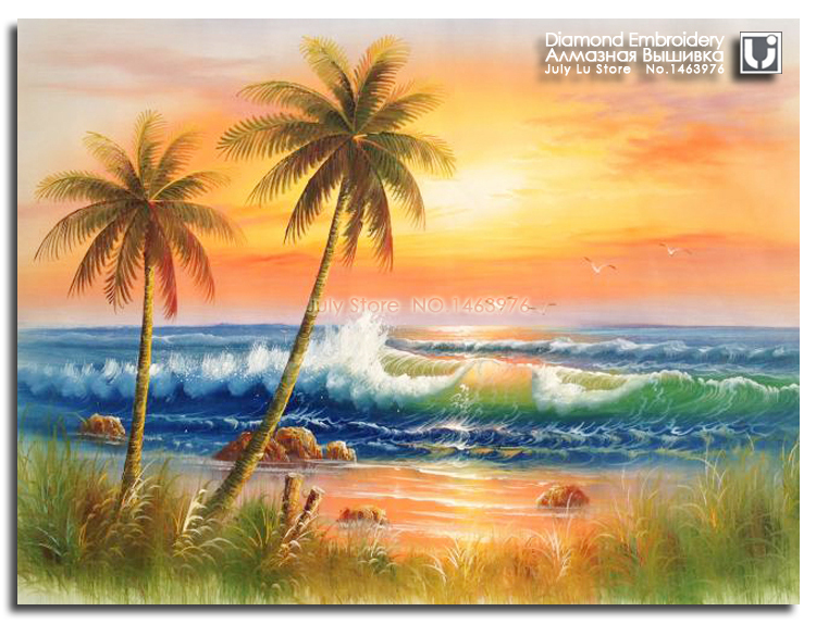 76+ imej lukisan pemandangan pantai HD Terbaru
