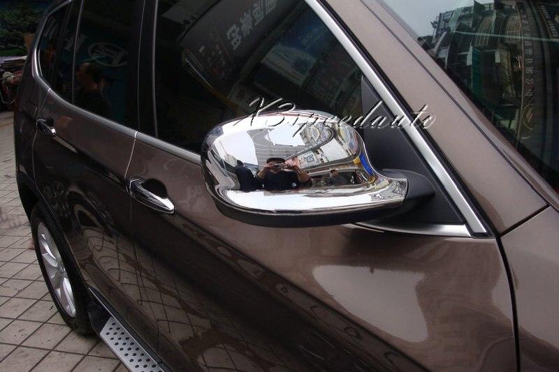 Couvercle de miroir de porte latérale en plastique ABS chromé pour BMW X3 2011-2013