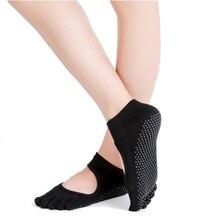 Women Yoga Socks Backless Five Fingers Socks Gym Fitness Sport Pilates Dance Ballet Anti Slip 5 Toe Cotton Socks Footwear Female цены онлайн