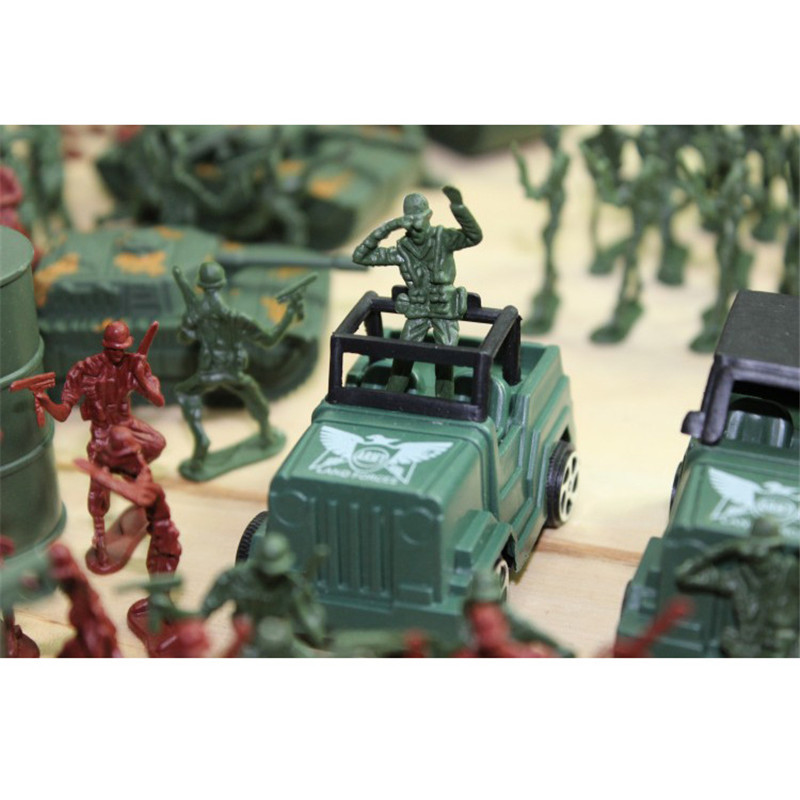 307pcsset Military Plastic Model Toy Soldier Army Men Figures & Accessories Playset Kit Decor Gift Model Toys For Children (4)