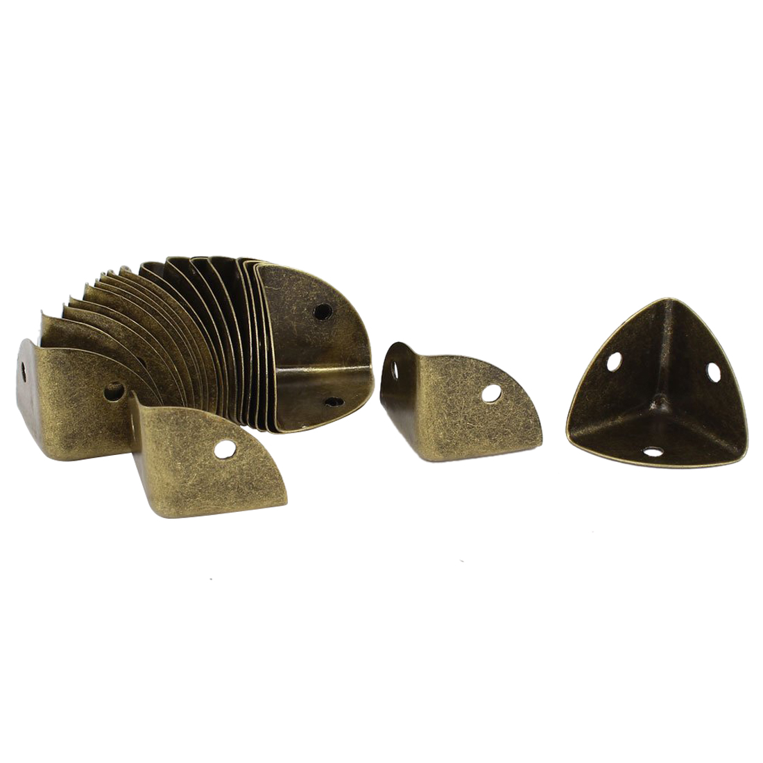 HOT GCZW- Box Case Edge Corner Protector Bracket 20 Pcs Bronze Tone
