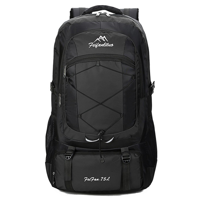 75L Waterproof unisex men backpack travel pack sports bag pack Outdoor Camping Mountaineering Hiking Climbing backpack for male 1