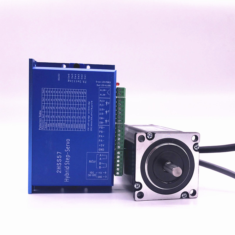 57J1880EC-1000+2HSS57 Closed-loop step combined packages 2.0N.m Nema 23 Hybird closed loop 2-phase stepper motor driver closed loop stepper motor 57j1854ec 1000 2hss57 driver 0 9n m nema 23 hybrid 2 phase step motor with 3m encoder cable