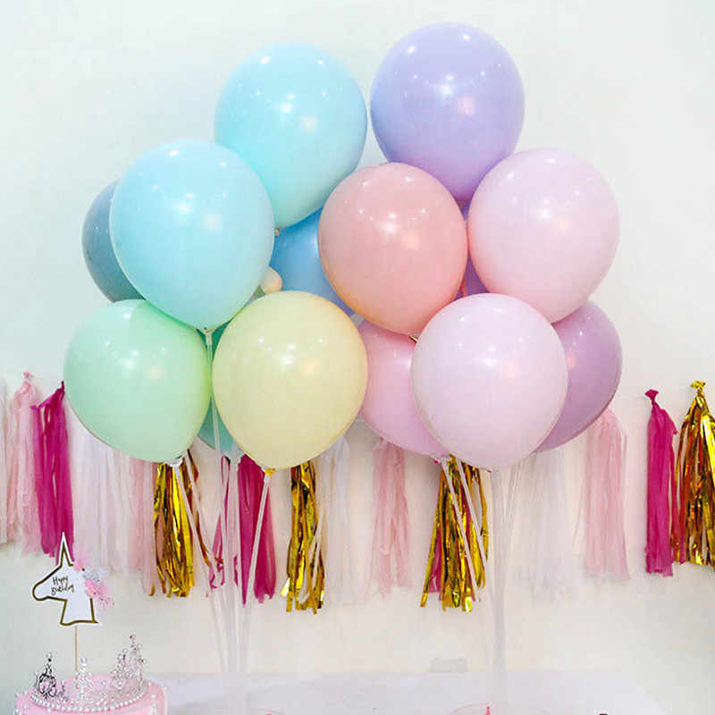 High Quality 5pcs 12inch 2.2g Macaron Silver Latex Balloons Air Balls Inflatable Wedding Birthday Party Decoration Float Balloon