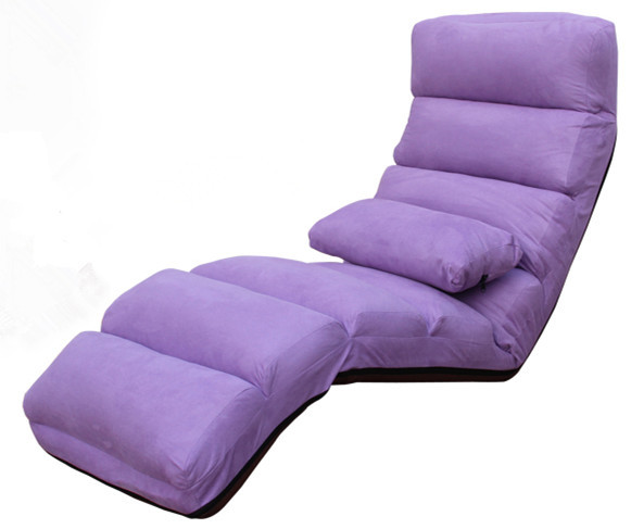 Interior moderno Chaise Lounge Muebles Salón Tapizado Sofá Cama Cama Chaise Lounge 5 Colores Piso Plegable Ajustable