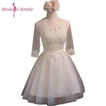 f992efdae5c3d Güzellik-Emily Kısa balo kıyafetleri A-Line Şampanya Balo Elbise Örgün  mezuniyet elbiseleri Parti Elbiseleri Vestido De Festa Cu.