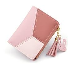 New Arrival Wallet Short Women Wallets Zipper Purse Patchwork Panelled