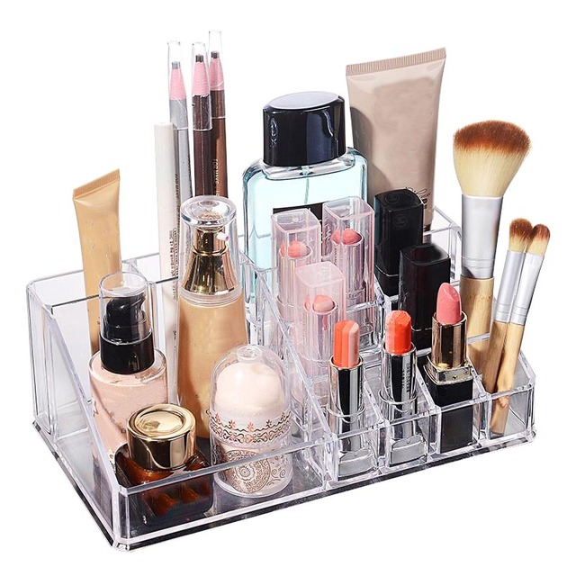 Jewelry Storage Box Lipstick Makeup Dresser Holder Container Home