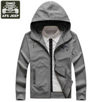 AFS JEEP Brand Jacket Men Coat Male Casual Mens Autumn Jacket Hooded Collar Hoodies Print Army