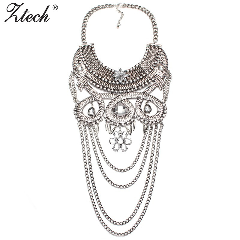 2016 New Arrival Luxury Exaggerated Style Design Wholesale Women Fashion Costume Metal Chain