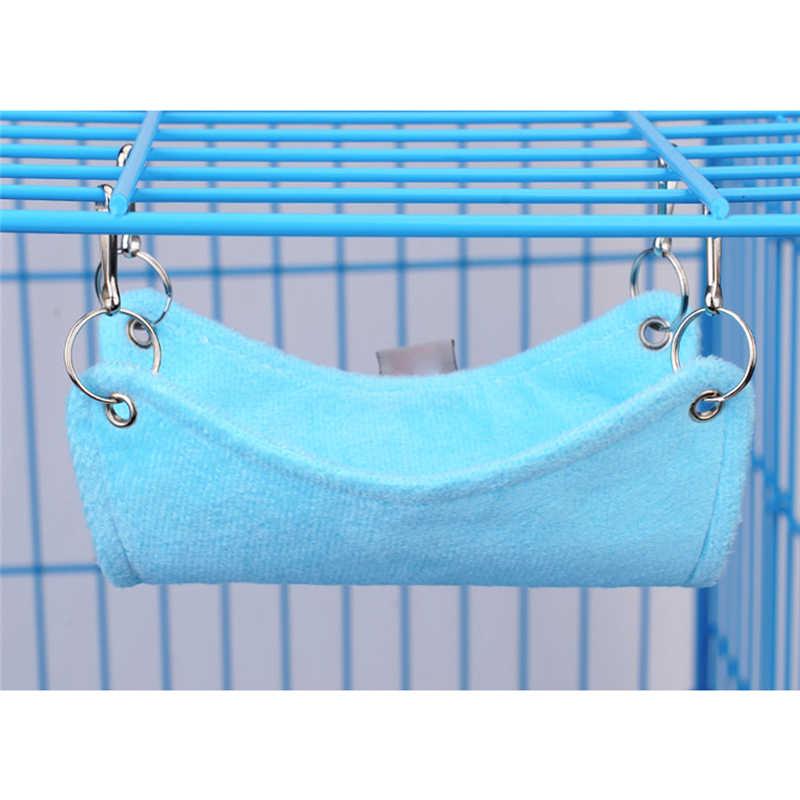 Теплая плюшевая ткань хомяк Шиншилла гамак морская свинья-кролик подвесная клетка для кровати аксессуары игрушки для домашних животных Розовый Синий