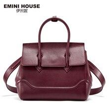 EMINI HOUSE Split Leather Shoulder Bag Vintage Birking Bag High Quality Women Messenger Bags Luxury Handbags Women Bags Designer