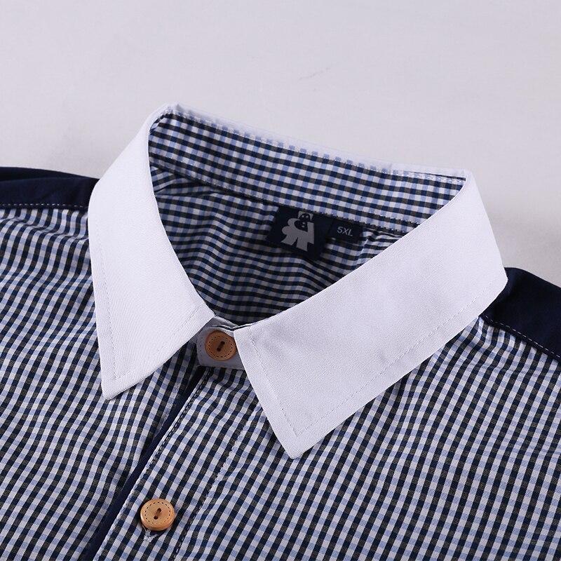 Homme Vêtements Carreaux Manches Mode À Courtes Robe Ample Beige 5xl Pour 10xl noir Coton 6xl 8xl Chemise Marque Décontracté Hommes Chemises pUq1Ux