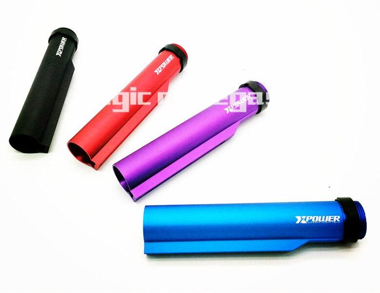 цена на Lightweight CNC Aluminum buttstock tube for AEG M4 M16 airsoft Stock Pipe purple red black blue