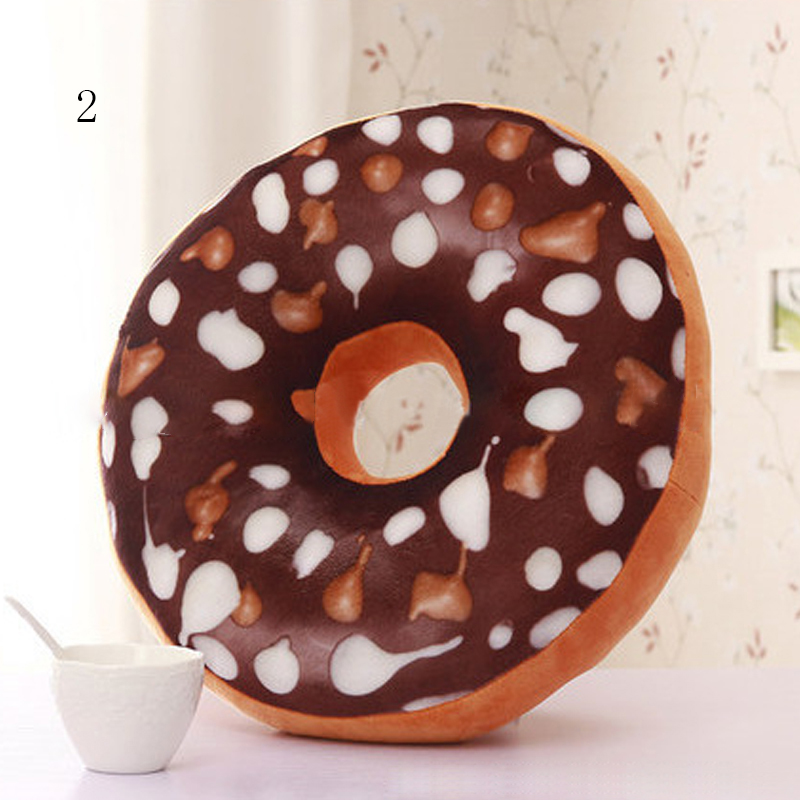 Chocolate Donuts Cushion And Soft Plush Pillow Car Seat Mats Cushion 10