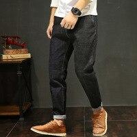Модный бренд Для мужчин S свободные джинсовые шаровары Теплые джинсы свободные для Для мужчин Эластичность карандаш Брюки для девочек хип-х...