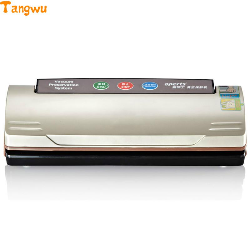 Free shipping automatic vacuum packaging machine household vacuum machine food machine small commercial vacuum sealing machine free shipping full automatic dry wet dual purpose small household vacuum sealing machine plastic commercial food packaging