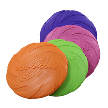 2019 Best Selling Pet Toys  Large Dog Trainning Flying Discs Puppy Toy Rubber Bite Resistance 15cm 18cm 22cm