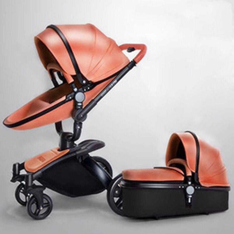 Poussette bébé de luxe 15 KG grande poussette landau bébé poussettes dorées pour enfants chariot bébé pliable voiture carrinho de bebe