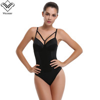 Wechery 2017 New Sexy Lady Full Body Waist Trainer Shaper Breathable Corset Shapewear Bodysuit Slimming Breathable