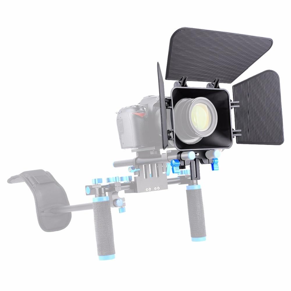 YELANGU M1 DSLR Camera Matte Box compatible with standard 15MM rail Rod system For Camera Camcorder
