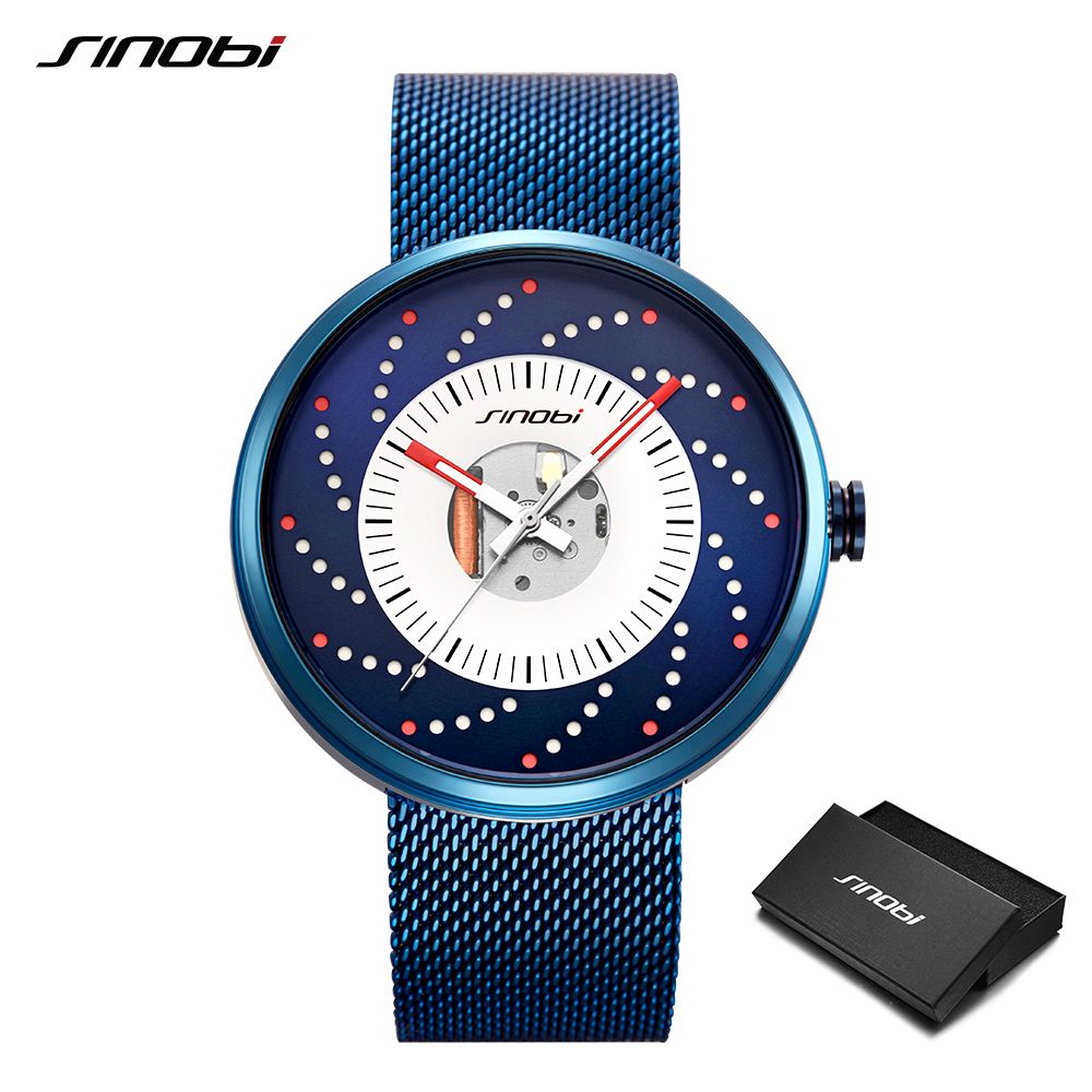 SINOBI New Hot Wheels Creative Design Men Watches Cool Waterproof Luminous Stainless Steel Japan Imported Movement Quartz Watch