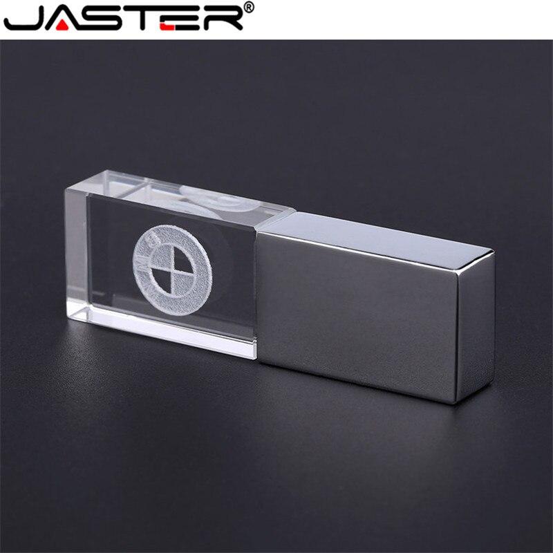 JASTER BMW cristal + métal USB clé USB 4GB 8GB 16GB 32GB 64GB 128GB stockage externe mémoire stick u disque
