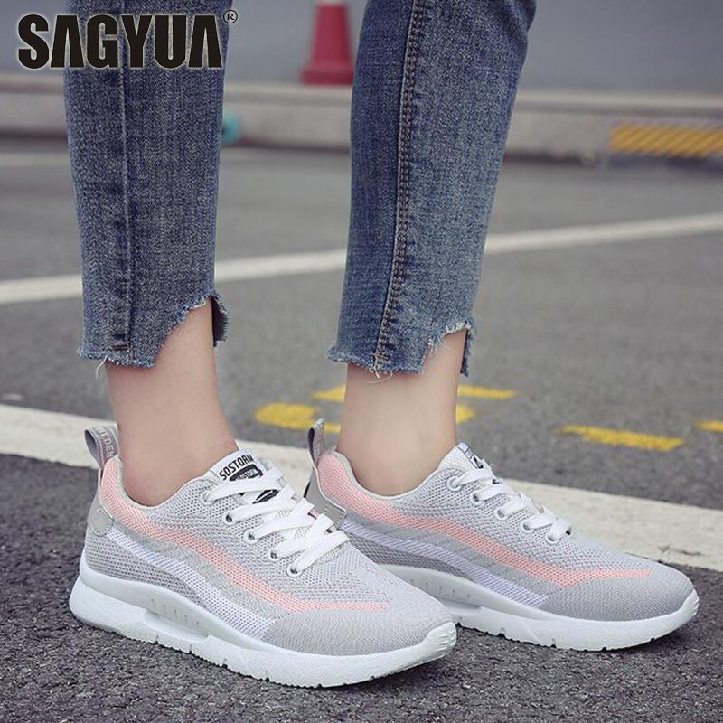 Korean Student Women Canvas Fashion Casual Shoes Feminino Lady Mesh Air Leisure Walking Soft Sole Chaussures Sneakers Shoes T653