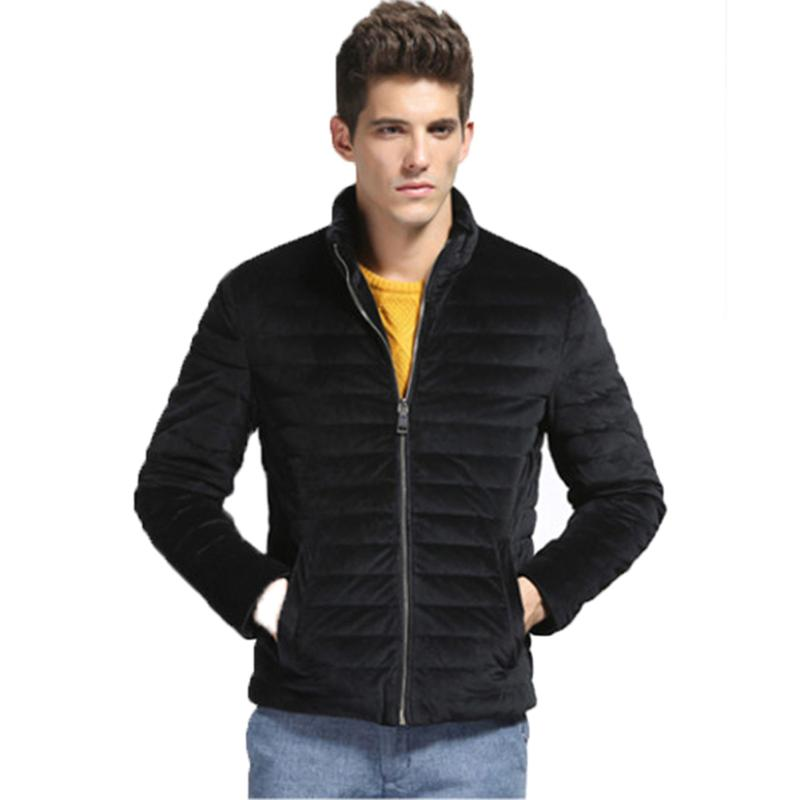 KLV Fashion Duck Down Winter Warm Thickening Casual Coat Men Jacket Men 2018 Fashion Sol ...