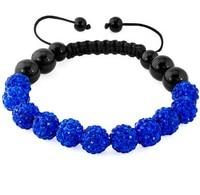 10mm mix hotsale wholeslae clay handmade Crystal Shamballa Bracelet black wholesale Bangles men women rhinestone lot