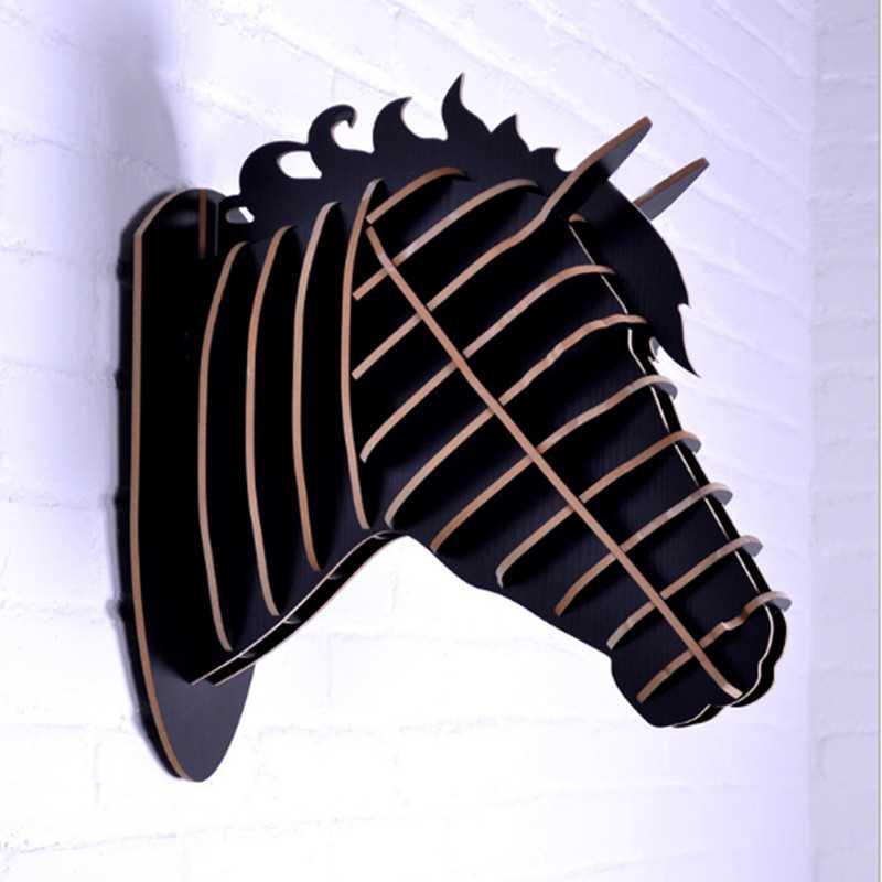 Рисунок коня, ручная работа, голова животного, украшение дома, новизны, поделки, работа, резьба по стене, произведение искусства, Скандинавское украшение дома - 4