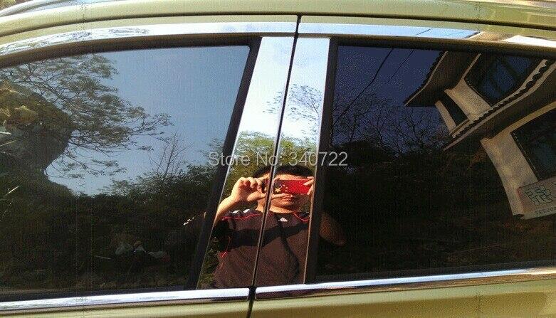 stainless steel Window molding lid trim boot sill fit for Suzuki S-cross Sx4 2014 26pcs per set stainless steel upper window frame sill trim 8pcs for fusion mondeo 2013 2014