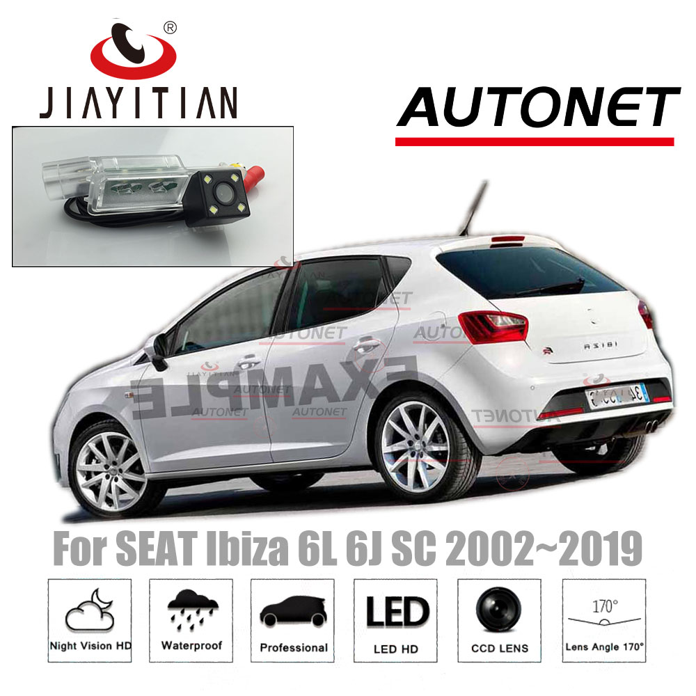 Jiayitian Rear View Camera For SEAT Ibiza 6J 2009 2010 2012 2014 2016 2018 CCD Night Vision License Plate Camera Reverse Camera