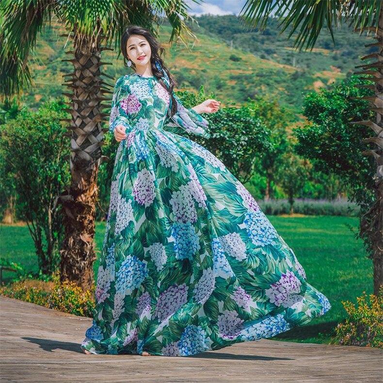 Summer Chemise Explosions Robes Femmes Qualité Robe Bleu Nouveau Imprimer Loisirs Casual Élégant Haute Aqw8vvxS