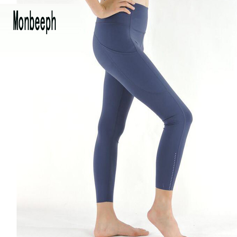 Monbeeph print leggings high waist pants Ankle-Length Pants 7/8 capris pants Pencil skinny Pants(China)