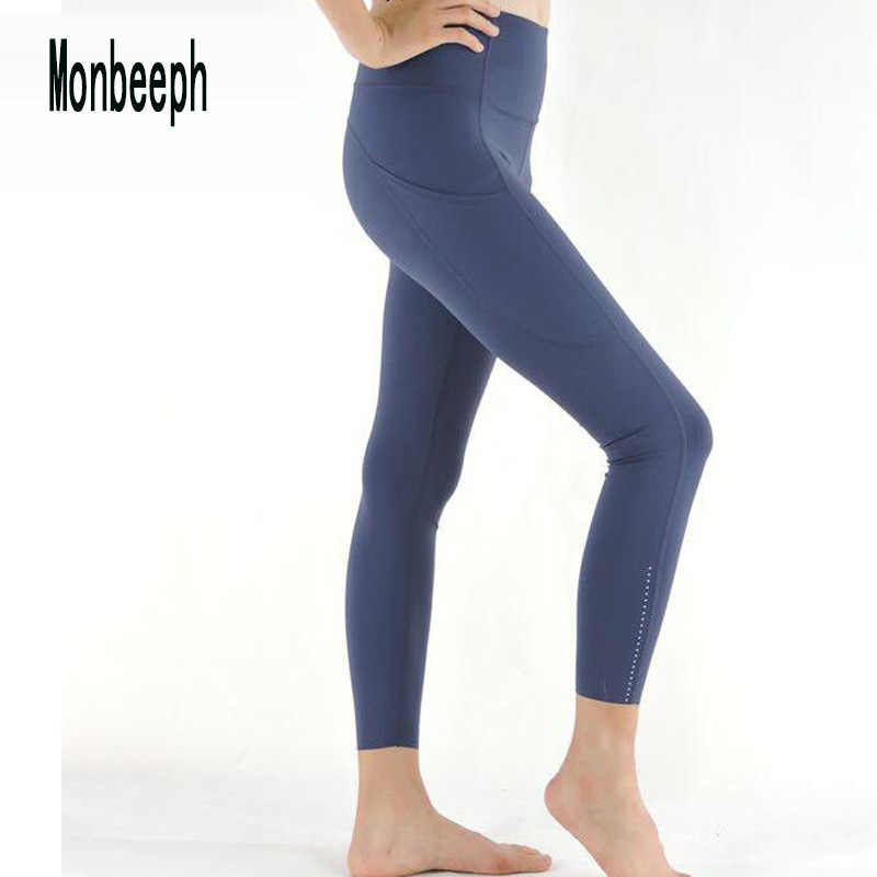 Monbeeph print leggings high waist pants Ankle-Length Pants 7/8 capris pants Pencil skinny Pants