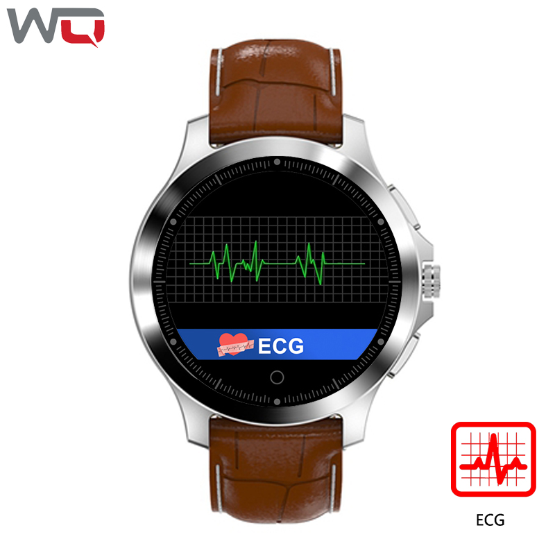 WQ W8 ECG PPG Smart Watch Men 1.22 inch Men's Business Casual Smartwatch ECG PPG HRV Heart Rate Blood Pressure Smart Watch