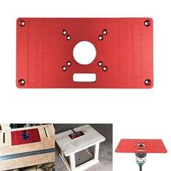 Aluminium routera tabeli wkładka płyta płyta do stołów do obróbki drewna routera tabeli płyta dla RT0700C uniwersalny w Zestawy narzędzi ręcznych od Narzędzia na