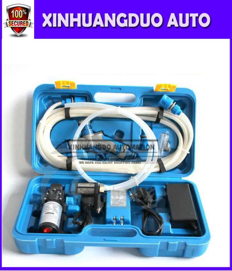 1set 12v 80w Portable High Pressure Car Washers With High Pressure Car Water Pump 12v Dual Purpose Blue Box