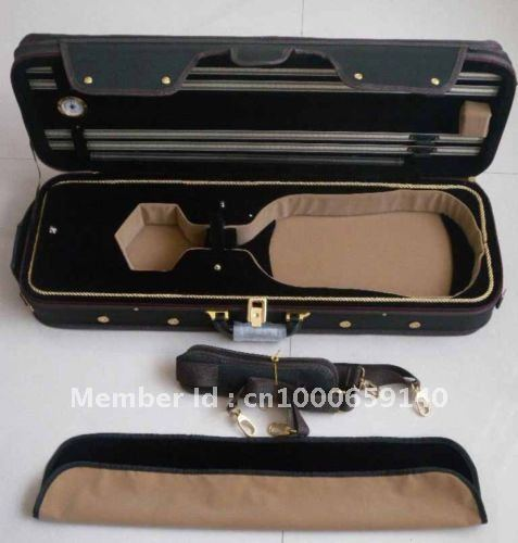New 4/4 Violin case Oxford Water Proof #21 handmade new solid maple wood brown acoustic violin violino 4 4 electric violin case bow included