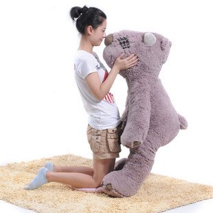 teddy bear plush toys 1.2m size Christmas gift huge size bear freeshipping fancytrader biggest in the world pluch bear toys real jumbo 134 340cm huge giant plush stuffed bear 2 sizes ft90451