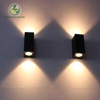IP65 Outdoor LED COB Waterproof Bollard Shape Led Wall Light Balcony Led Wall Lamp 6W Warm