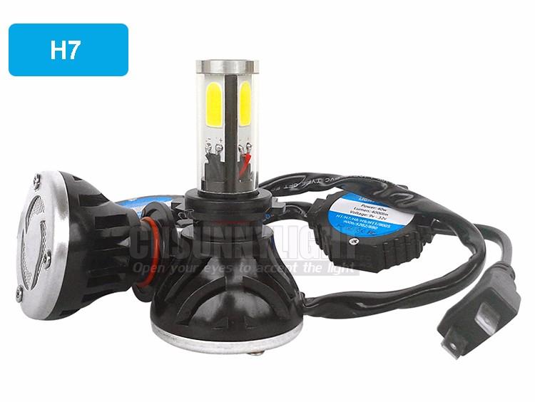 CNSUNNYLIGHT COB LED Headlight Kit H7 H11 H8 9005 HB3 9006 HB4 40W 4000LM Car Head Lamp Fog Light Replacement Bulb Play and Plug (7)