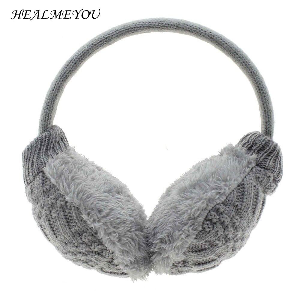 New Style Women Man Earmuffs Winter Ear Muffs Earwarmers Earflap Warmer Headband Unisex Round Ear Cover Knitted Plush HOT Sale